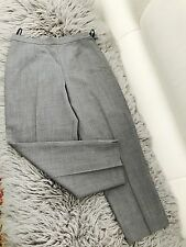 CHARLIE BROWN WOMENS PANTS GREY RAYON POLYESTER BLEND CROPP ZIP SIDE SZ 10