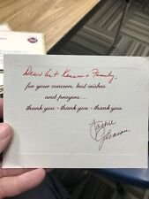 Jackie Gleason Famous Actor Signed Autograph Letter From Illness Auto Pen