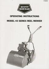 Scott Bonnar Model 45 Briggs & Stratton Vintage Mower Manual Copy