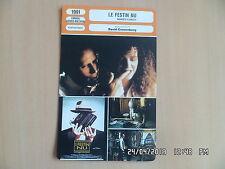 CARTE FICHE CINEMA 1991 LE FESTIN NU Peter Weller Judy Davis Ian Holm J.Sands