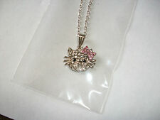 HELLO KITTY RHINESTONE BOW PENDANT  - GREAT GIFT - *****REDUCED*****