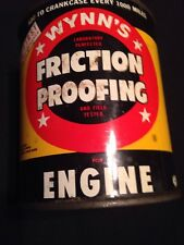 Vintage Wynn's Friction Proofing Full Metal Can Unopened