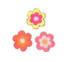 Blumen Blüten Neon Create Aufnäher Aufbügler Iron On Patch Applikation #9494
