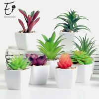 Lovely Artificial Fake Plants with Pot Mini Bonsai Potted Plants For Decoration