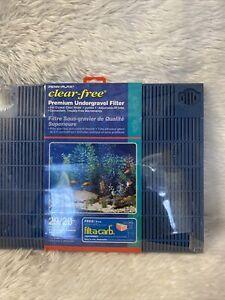 Penn-Plax Clear-Free Premium Under Gravel Aquarium Filter Bin E4