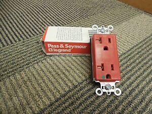 PASS & SEYMOUR PT26362-HGRED PLUG TAIL RECEPTACLE 20A AMP 125V HOSPITAL GRADE