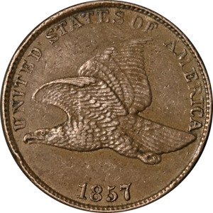 1857 Flying Eagle Cent ~ Nice AU ~ Superb Eye Appeal ~ Strong Strike ~ Fabulous