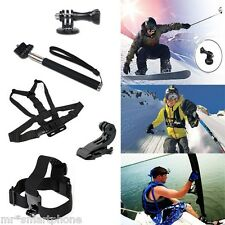 Chest Harness Head Strap Mount Monopod Tripod Adapter Gopro Camera Hero 1 2 3 3+