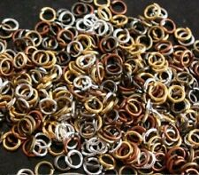 4mm Jump rings 500pcs 6 mixed plated finishes open 20 gauge attach charms fpj068