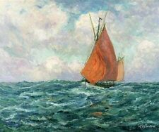 "Maxime Maufra Tuna Boat at Sea Oil Painting repro 20""x24"""
