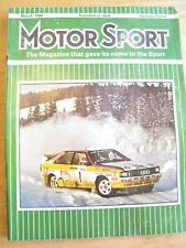 MOTORSPORT MAGAZINE MAR 1984 MONTE CARLO RALLY GOLF 2 ARRIVES FIAT UNO 70'S CHRI