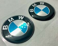 2pcs. BMW Round Logo 3D Domed Badge Sticker. 30 mm.