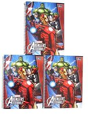 Marvel Avengers Spiral Hardcover 96 Sheet Notebook W/ Stickers 220 x 275 mm NEW