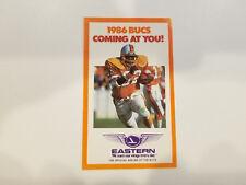 Tampa Bay Buccaneers 1986 NFL Football Pocket Schedule - Eastern Airlines