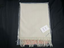 Acne Studios Ivory White Canada Scarf Oversize 200×70cm New With Tags 100% Wool
