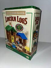 Complete Lincoln Logs White River Ranch #0814154 90pc Toy Set Building K'nex.