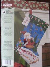 Bucilla Christmas Swing Felt Stocking Kit 86185 Mary Engelbreit Santa Elf
