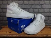 ADIDAS MENS UK 8 EU 42 WHITE VERITAS HIGH LEATHER TRAINER RRP £70