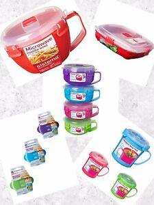 Sistema Microwave range plastic coloured food/meal prep tubs & containers
