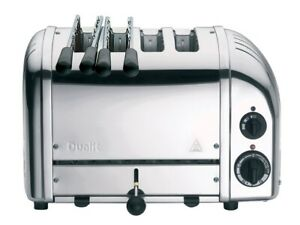 DUALIT 4 Slice / Four Slot Classic Vario AWS Toaster Polished Stainless Steel