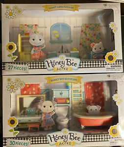 New Release 2021 HONEY BEE ACRES Set SWEET HOME KITCHEN Lot BUBBLY BEE BATHROOM