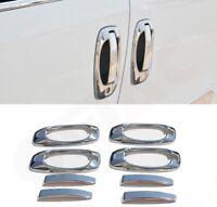 Bipper/Nemo/Fiorino Qubo/Doblo/CombO Chrome Door Handle Rim+Cover 4Door S.Steel