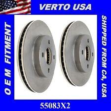 Set Of 2  Brake Rotors- Front fit Chevrolet Cobalt, Pontiac G5 & Saturn  55083X2