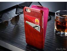 Premium Flip Case für Apple iPhone 6S HandyHülle Tasche Hülle - Rot (0CRO)
