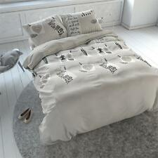 Duvet Cover&Pillow Case Bedding Micropercal Vintage Bird Taupe 240x200/220 EU