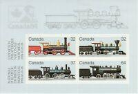 Canada   # 1039A CANADIAN LOCOMOTIVES Brand New 1984 MiniSheet