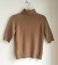 CELINE PARIS LUXURIOUS Camel Tan 100% CASHMERE TURTLENECK SWEATER ~ SIZE L