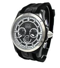 CERRUTI 1881Herren Uhr Chronograph Edelstahl schwarz silber CRA076A224H  > > NEU