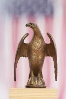 Antique Gilt Bronze Eagle  Flag Pole Topper