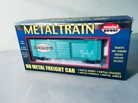 Model Power HO Scale #2172 Metal Train NYC New York Central 40' Box Car