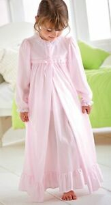 Pink Peignoir Set Girls Long Sleeve Nylon NWT Sizes 4-14 Laura Dare