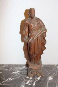 statue de saint en bois XVIIIeme