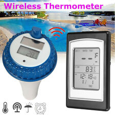 Wireless Solar Swimming Pool Thermometer Indoor Temperature Gauge Measure Meter