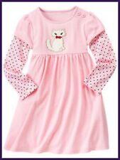 NWT girls 3 gymboree HOMECOMING KITTY pink DRESS cotton knit long sleeve . .RARE