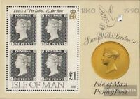 GB - Insel Man Block12 (kompl.Ausg.) gestempelt 1990 150 Jahre Briefmarken