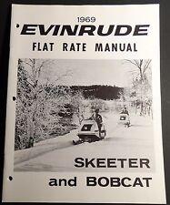 1969 EVINRUDE SNOWMOBILE SKEETER & BOBCAT FLAT RATE SERVICE MANUAL NEW  (723)