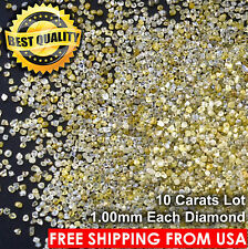 100% NATURAL Loose Rough Diamonds Fancy Yellow FL-SI 1.00mm uncut real 10 Carats