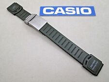 Genuine Casio Pro Trek Fishing Gear PRT-50FGJ resin watch band dark green 20mm