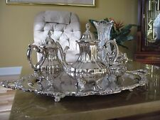 MAGNIFICENT!!! Atq 5pc TOWLE Slv Plated & Footed Ornate Coffee & Tea Service Set