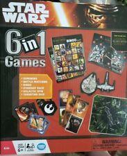 Disney Star Wars 6 in 1 Games Collection-NEW-Bingo, Dominos, Etc.