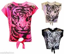 T-shirts, hauts et chemises gris pour fille de 2 à 16 ans