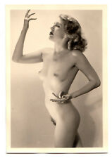 #780 ROESSLER AKTFOTO / NUDE WOMAN STUDY * Vintage 1950s Studio Photo - no PC !