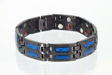 Cristor Armband schwarz Damen Herren Titanband Cristor Magnetschmuck TE 8191 BLb