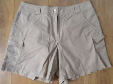 BHS BISCUIT COTTON CARGO SHORTS SIZE 12