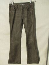 F1098 7 For All Mankind 'A' Pocket High Grade USA Made Brown Jeans Womens 32x35
