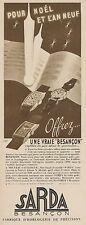 Y8415 Fabrique d'horlogerie SARDA - Pubblicità d'epoca - 1937 Old advertising